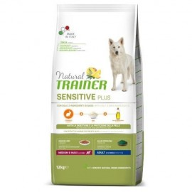NATURAL TRAINER SENSITIVE PLUS MEDIUM&MAXI CONEJO-ARROZ-ACEITE