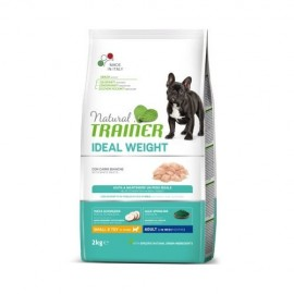 NATURAL TRAINER MINI ADULT IDEAL WEIGHT CARNES BLANCAS